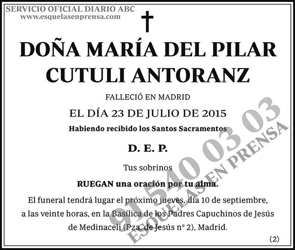 María del Pilar Cuturi Antoranz